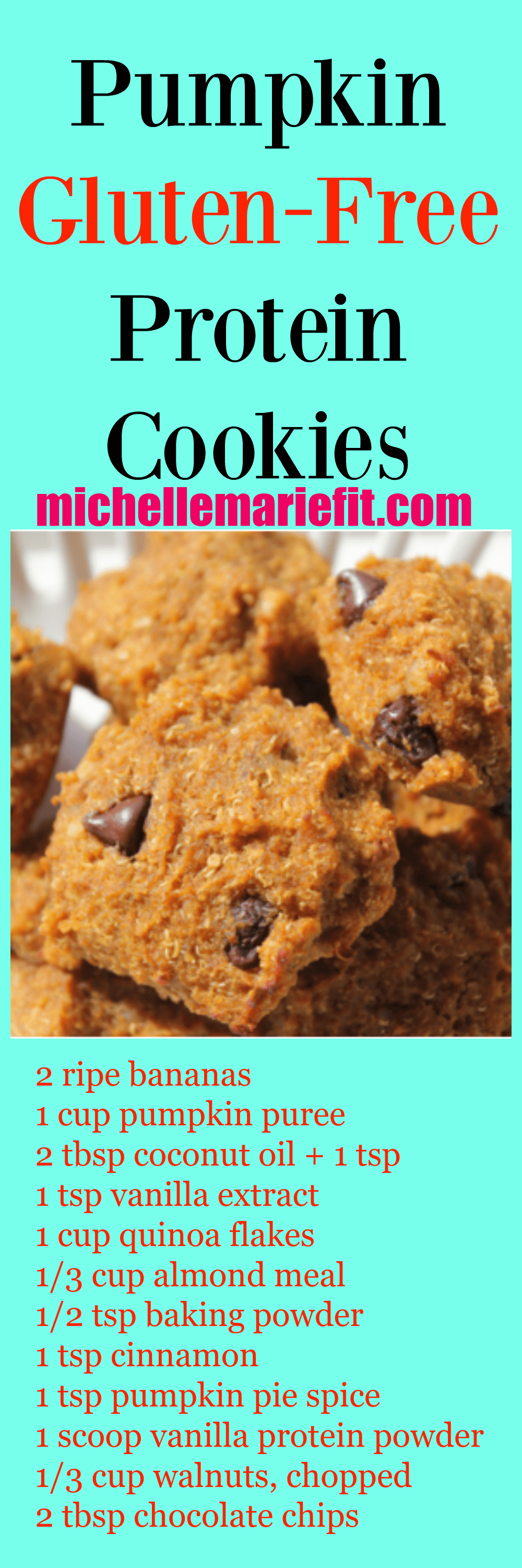 ... Recipe For Gluten-Free Pumpkin Protein Cookies - Michelle Marie Fit