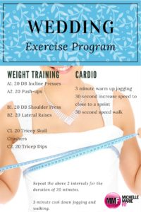 wedding exercise program
