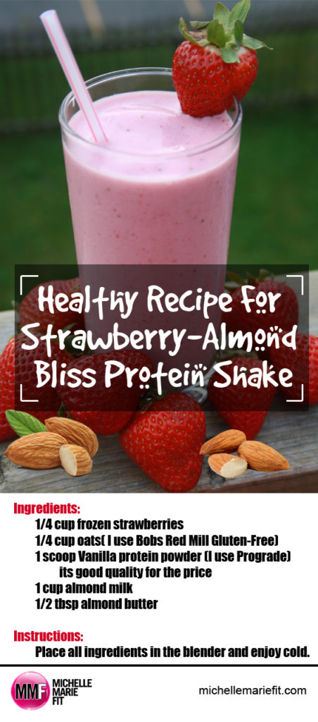 Healthy Recipe For Strawberry-Almond Bliss Protein Shake_pinterest
