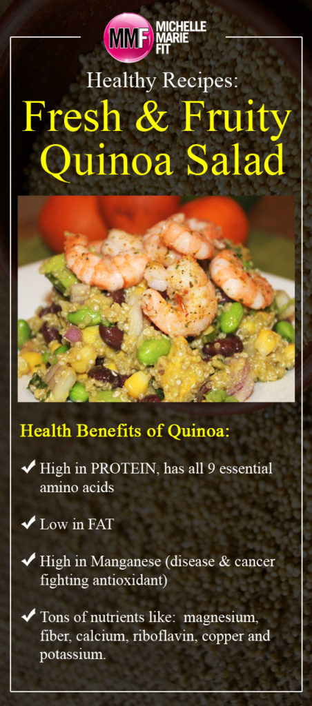 Healthy Recipes Fresh & Fruity Quinoa Salad_pinterest