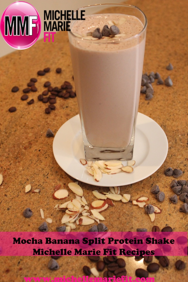 Healthy Recipe For Mocha Banana Split Protein Shake