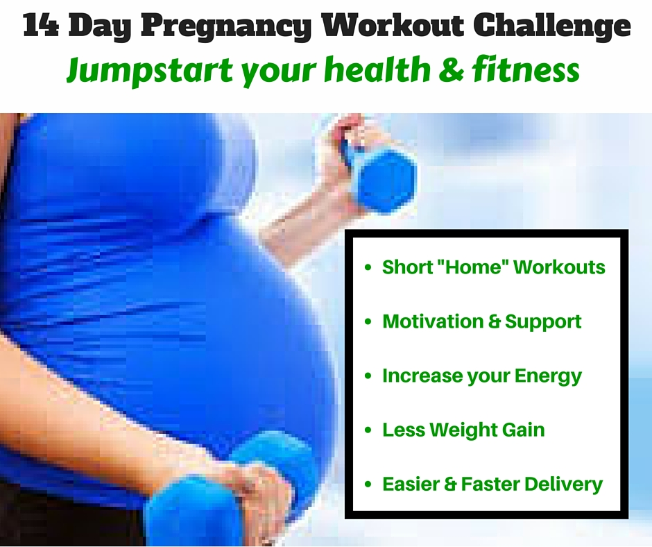 pregnancy workout challenge-14 day jumpstart