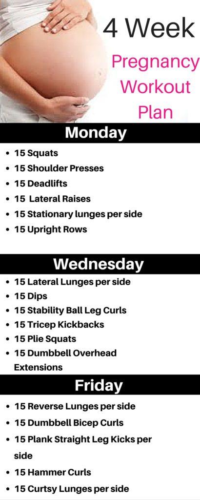 4 Week Pregnancy Workout Plan