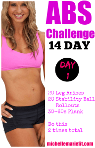 abs challenge day 1