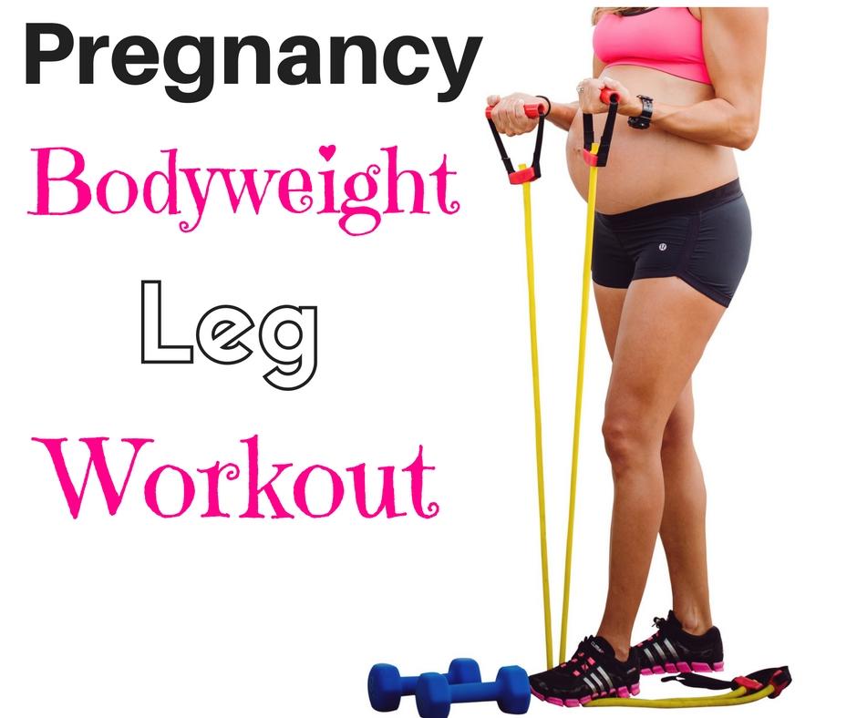 Pregnancy bodyweight leg workout