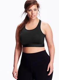 High-Support Plus-Size Sports Bras - Black