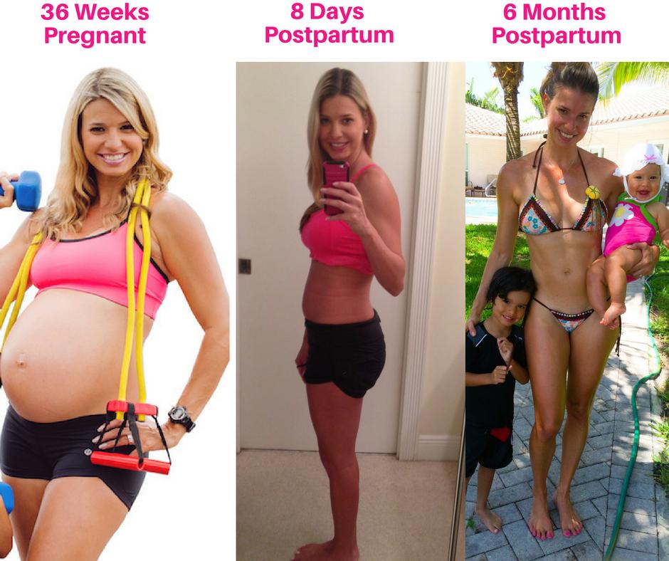 pregnant-4-days-6-months-postpartum-transformation