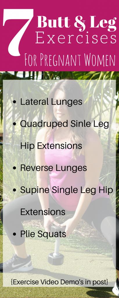 7 butt and leg exercises for pregnant women 1