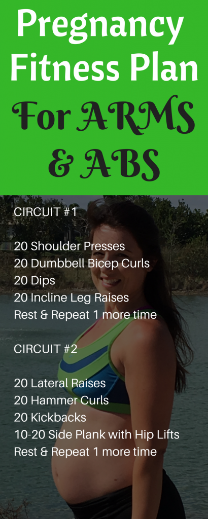 Pregnancy Fitness Plan For Arms and ABS
