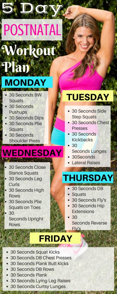 5 Day Prenatal Workout Plan