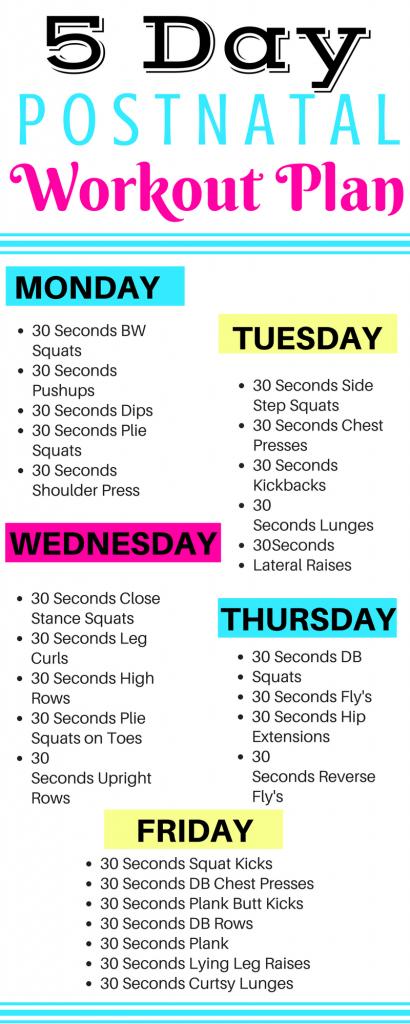 5 Day Prenatal Workout Plan 2